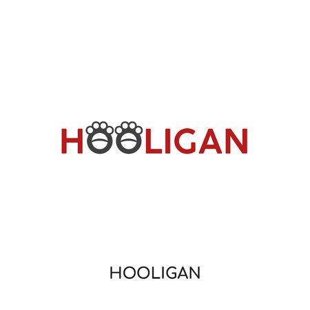 hooligan logo isolated on white background for your web and mobile app design , colorful vector icon, brand sign & symbol for your business