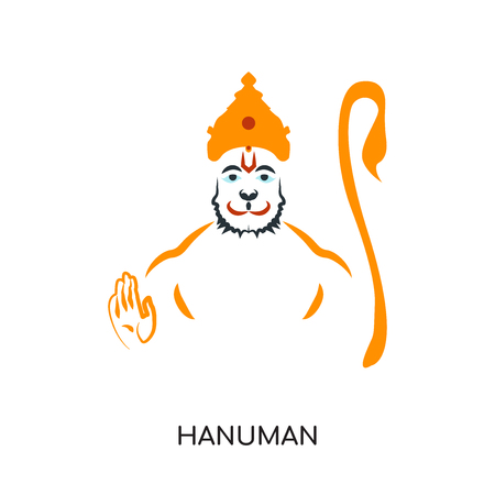 hanuman logo isolated on white background for your web and mobile app design , colorful vector icon, brand sign & symbol for your business