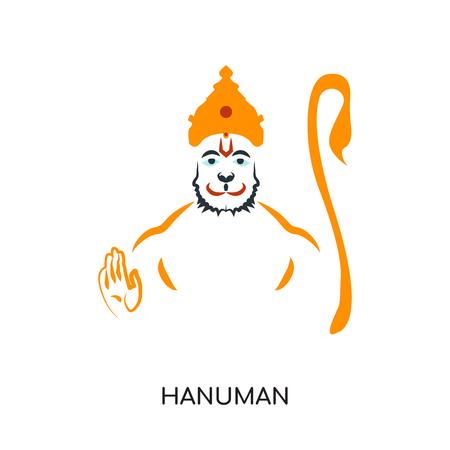 Hanuman-logo geïsoleerd op een witte achtergrond voor uw web- en mobiele app-ontwerp, kleurrijk vectorpictogram, merkteken en symbool voor uw bedrijf Stockfoto - 101157312