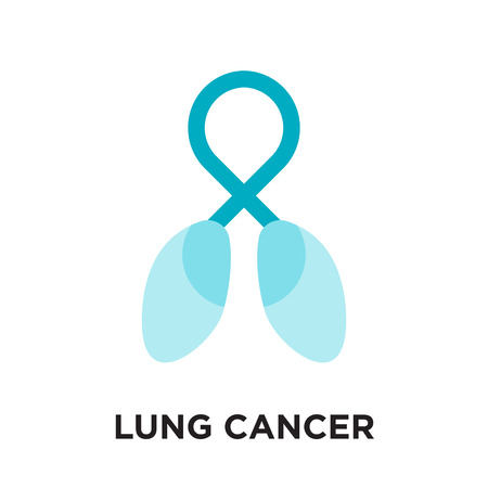 lung cancer logo isolated on white background for your web and mobile app design , colorful vector icon, brand sign & symbol for your business 일러스트