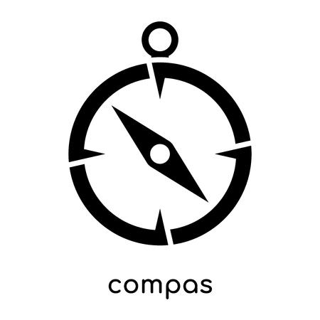 compas symbol na białym tle na białym tle dla sieci web i projektowania aplikacji mobilnych, czarny wektor znak i symbole Ilustracje wektorowe