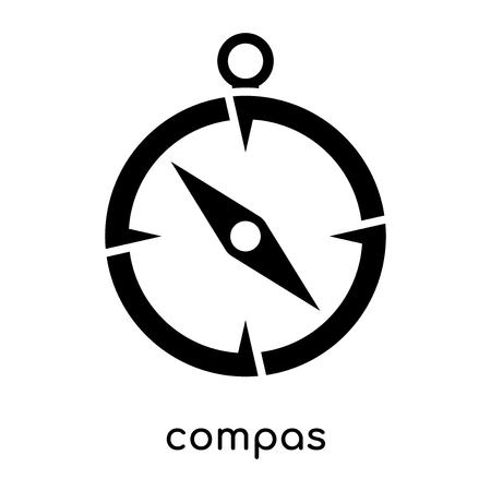 compas symbol isolated on white background for your web and mobile app design , black vector sign and symbols Vettoriali