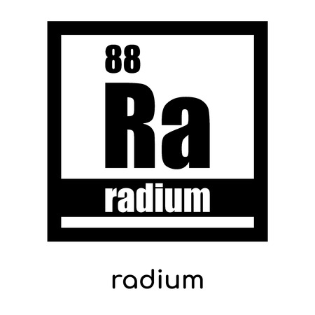 radium symbol isolated on white background for your web and mobile app design , black vector sign and symbols Illustration