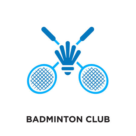 badminton club logo isolated on white background for your web and mobile app design , colorful vector icon, brand sign & symbol for your business