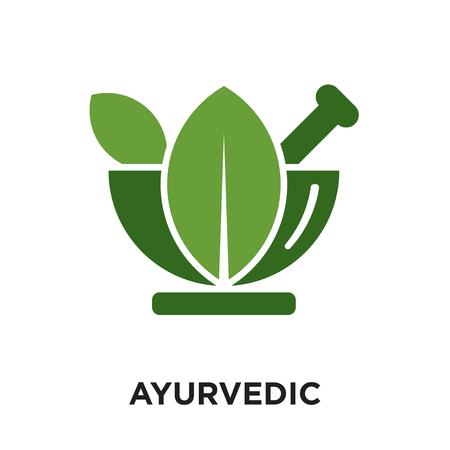 logo ayurvedico isolato su sfondo bianco per il tuo web e progettazione di app per dispositivi mobili, icona vettoriale colorato, segno e simbolo del marchio per il tuo business