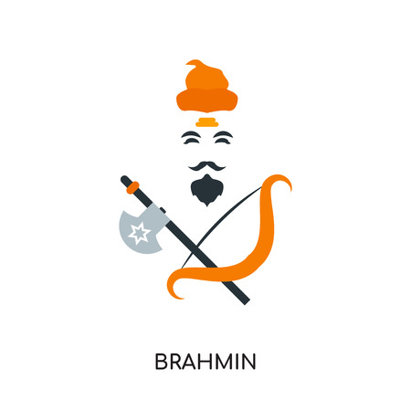 brahmin logo isolated on white background for your web and mobile app design , colorful vector icon, brand sign & symbol for your business