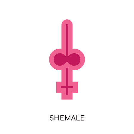 shemale logo isolated on white background for your web and mobile app design , colorful vector icon, flat sign and symbol