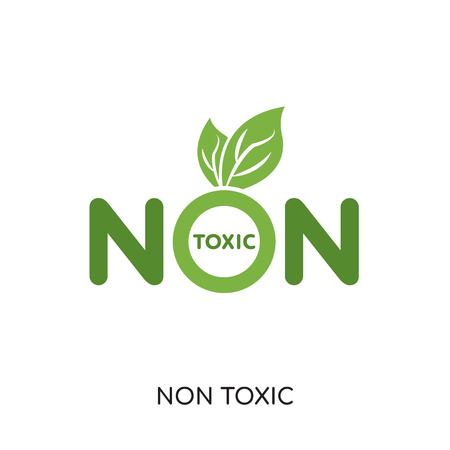non toxic logo isolated on white background for your web and mobile app design , colorful vector icon, brand sign & symbol for your business  イラスト・ベクター素材