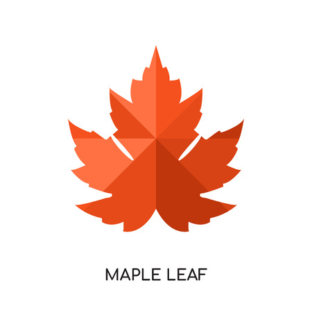 maple leaf logo isolated on white background for your web and mobile app design colorful vector icon