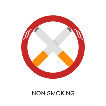 non smoking logo isolated on white background for your web and mobile app design , colorful vector icon, brand sign & symbol for your business