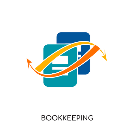 bookkeeping logo images isolated on white background for your web and mobile app design , colorful vector icon, brand sign & symbol for your business
