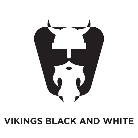 vikings logo black and white isolated on white background for your web and mobile app design , colorful vector icon, brand sign & symbol for your business