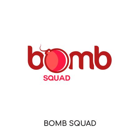 bomb squad logo isolated on white background for your web and mobile app design , colorful vector icon, brand sign & symbol for your business