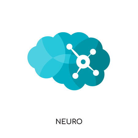 neuro logo isolated on white background for your web and mobile app design , colorful vector icon, brand sign & symbol for your business