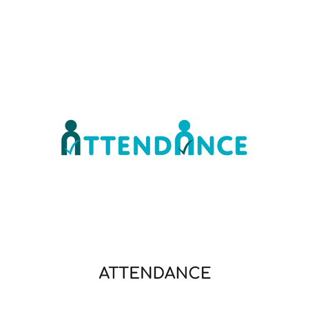 attendance logo isolated on white background for your web and mobile app design , colorful vector icon, brand sign & symbol for your business