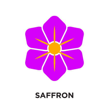 saffron logo isolated on white background for your web and mobile app design , colorful vector icon, brand sign & symbol for your business Ilustracja