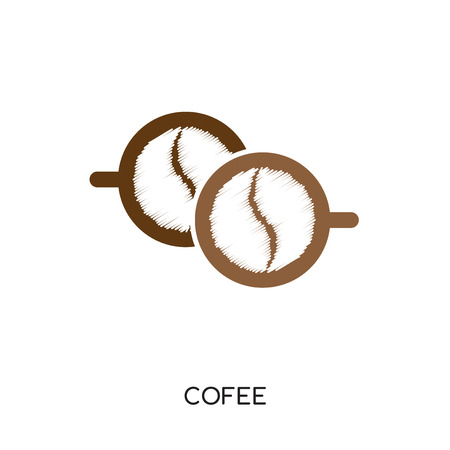 cofee logo isolated on white background for your web and mobile app design , colorful vector icon, brand sign & symbol for your business 矢量图像