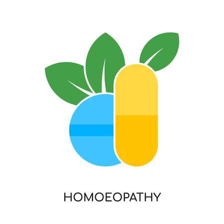 homoeopathy logo isolated on white background for your web and mobile app design , colorful vector icon, brand sign & symbol for your business Illustration