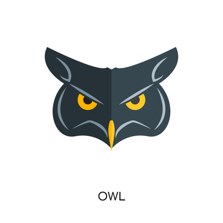 logo owl isolated on white background for your web and mobile app design , colorful vector icon