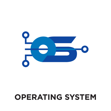 operating system logo isolated on white background for your web and mobile app design , colorful vector icon, brand sign & symbol for your business