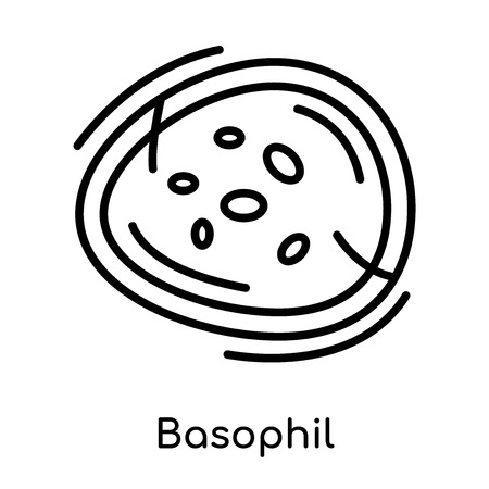 Icône de basophile isolé sur fond blanc pour la conception de votre application web et mobile, vecteur signe noir et symbole, élément mince de contour