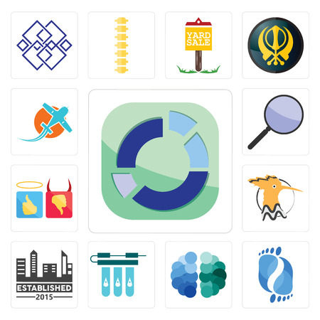 Set Of 13 simple editable icons such as sector, podiatry, free brain, water filter, established, hoopoe, good bad, focus group, prop plane can be used for mobile, web UI