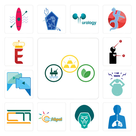 Set Of 13 simple editable icons such as commodities, inflammation, baboon, preschool, , obesity, video call, symptoms, e crown can be used for mobile, web UI