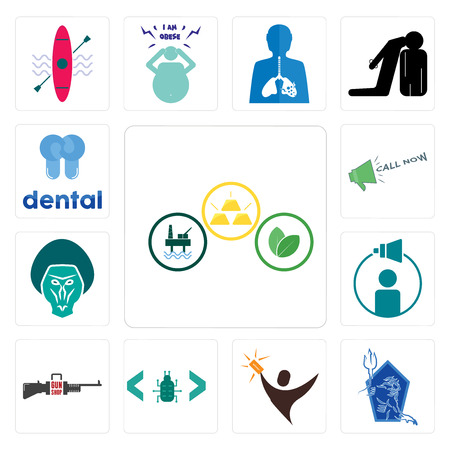 Set Of 13 simple editable icons such as commodities, neptune, lucky draw, software bug, gun shop, campaign management, baboon, call now, dental can be used for mobile, web UI