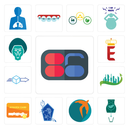 Set Of 13 simple editable icons such as 86, abortion, swift, neptune, scratch card, future city, dispatch, e crown, baboon can be used for mobile, web UI