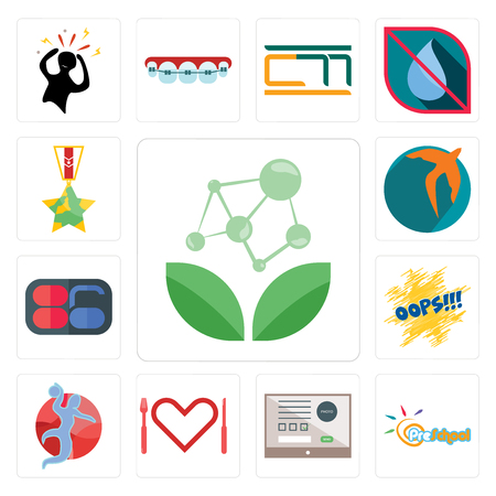Set Of 13 simple editable icons such as antioxidant, preschool, online form, appetite, handball, oops, 86, swift, veteran can be used for mobile, web UI Illustration