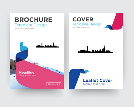 boston brochure flyer design template with abstract photo background, minimalist trend business corporate roll up or annual report