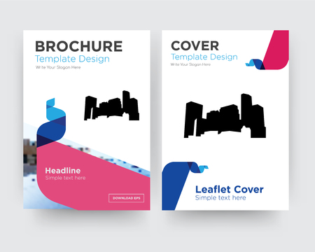 minnesota brochure flyer design template with abstract photo background, minimalist trend business corporate roll up or annual report Ilustração