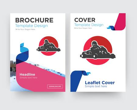 kart brochure folder ontwerpsjabloon met abstracte fotoachtergrond, minimalistische trend zakelijk oprollen of jaarverslag