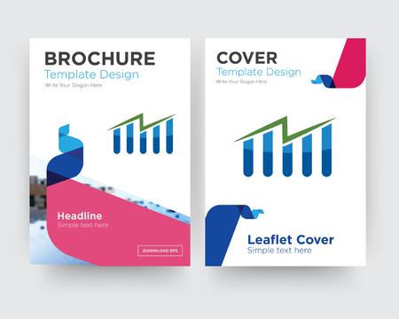 kostenlose Aktienbroschüre Flyer Design-Vorlage mit abstraktem Fotohintergrund, minimalistischem Trend Business Corporate Roll-up oder Jahresbericht Vektorgrafik