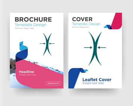 elastic brochure flyer design template with abstract photo background, minimalist trend business corporate roll up or annual report Illustration