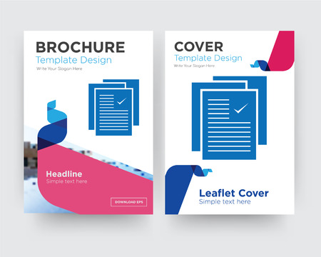 specification brochure flyer design template with abstract photo background, minimalist trend business corporate roll up or annual report