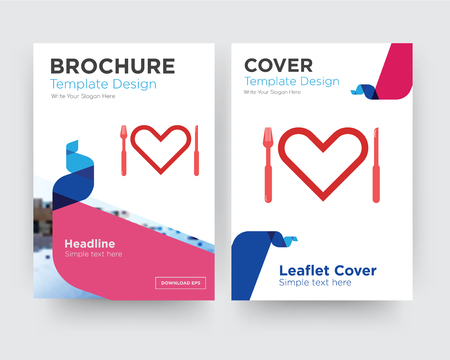 appetite brochure flyer design template with abstract photo background, minimalist trend business corporate roll up or annual report
