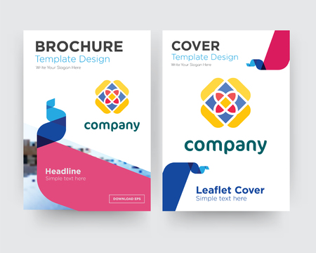 free brochure flyer design template with abstract photo background, minimalist trend business corporate roll up or annual report