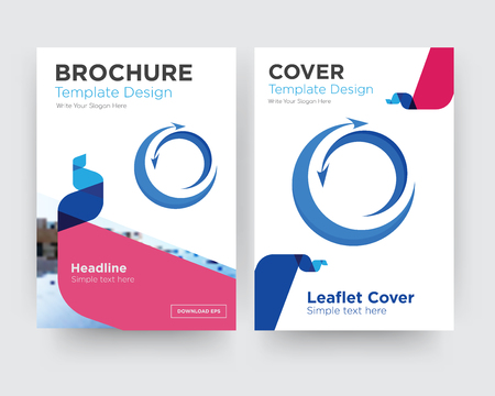 import export brochure flyer design template with abstract photo background, minimalist trend business corporate roll up or annual report