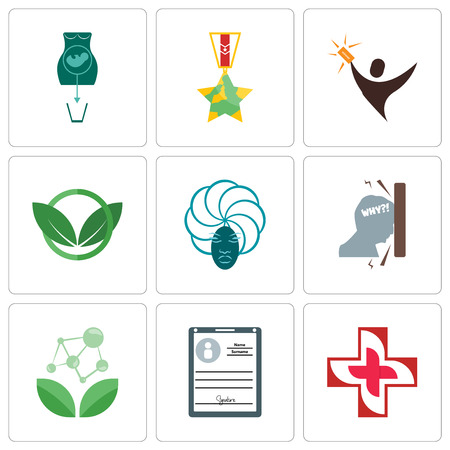 Set Of 9 simple editable icons such as image of  cross, personal details, antioxidant, frustration, goddess, eco club, lucky draw, veteran, abortion, can be used for mobile, web