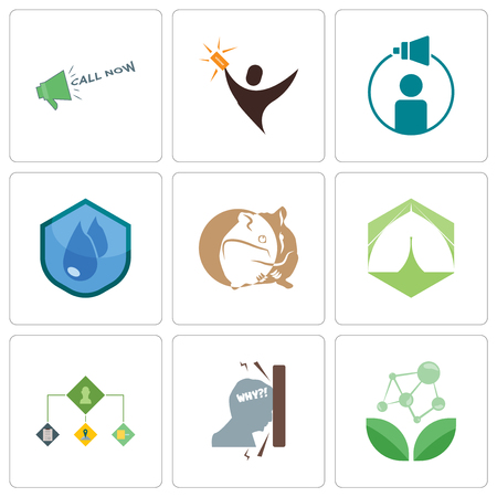 Set Of 9 simple editable icons such as antioxidant, frustration, order management, marquee, hamster, water resistant, campaign lucky draw, call now, can be used for mobile, web