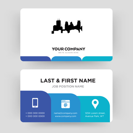 minneapolis, business card design template, Visiting for your company, Modern Creative and Clean identity Card Vector