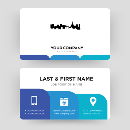 st paul, business card design template, Visiting for your company, Modern Creative and Clean identity Card Vector Illusztráció