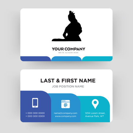 lord shiva, business card design template, Visiting for your company, Modern Creative and Clean identity Card Vector