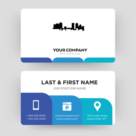 fort worth, business card design template, Visiting for your company, Modern Creative and Clean identity Card Vector Foto de archivo - 102297465