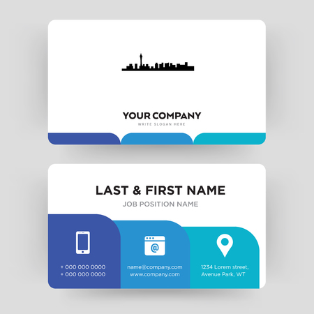 las vegas, business card design template, Visiting for your company, Modern Creative and Clean identity Card Vector Ilustração