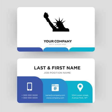 statue of liberty, business card design template, Visiting for your company, Modern Creative and Clean identity Card Vector