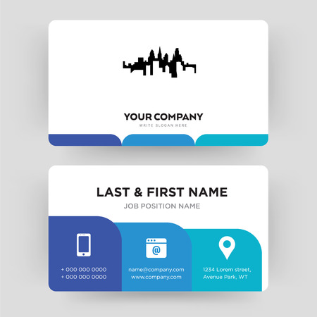 pennsylvania state, business card design template, Visiting for your company, Modern Creative and Clean identity Card Vector