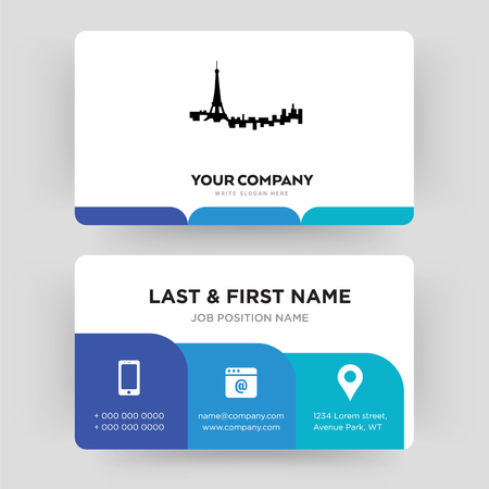 paris, business card design template, Visiting for your company, Modern Creative and Clean identity Card Vector