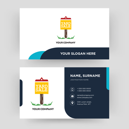 yard sale, business card design template, Visiting for your company, Modern Creative and Clean identity Card Vector